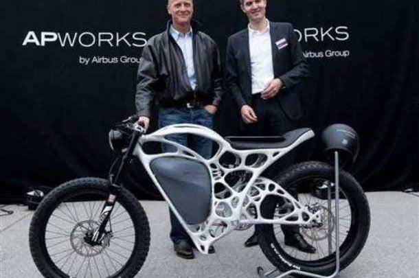 Airbus desarrolla la primera motocicleta impresa en 3D