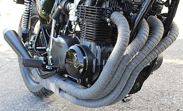 Cómo envolver un escape de moto