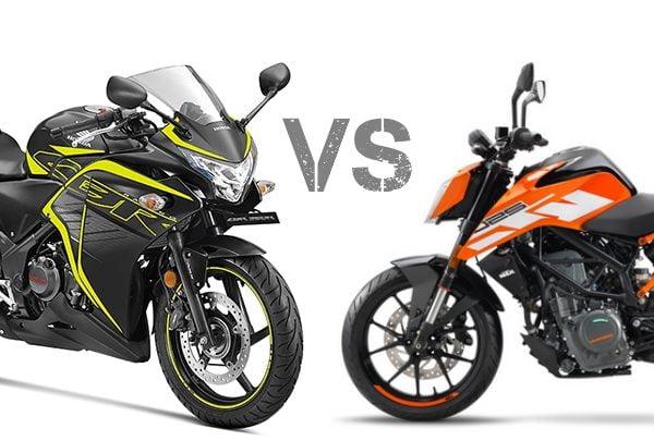 Honda CBR250R VS DUKE 250