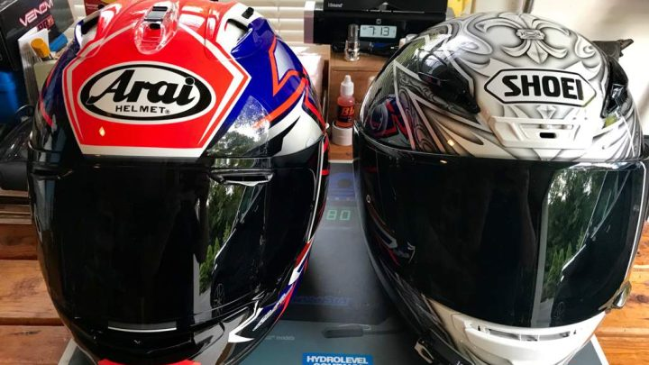 Cascos Shoei vs. Arai