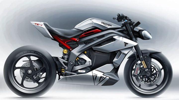 Moto eléctrica prototipo TE-1 de Triumph